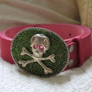 Only One Brand Skull and Crossbones Belt